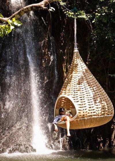 Гамак над водой оригинальная идея отдых возле водоема