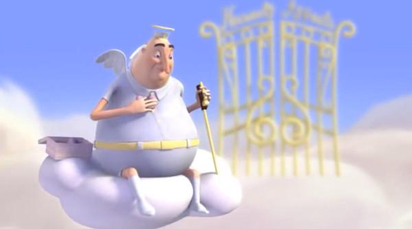 Небесная апелляция мультфильм скриншот ангел на облаке
