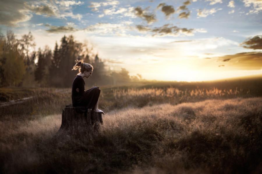 уединение на природе в тишине