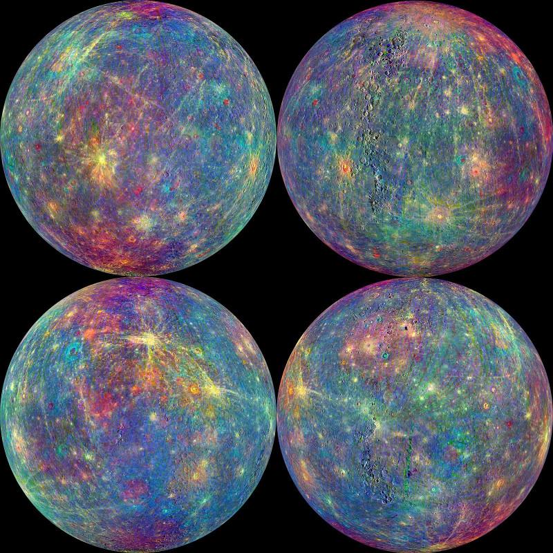 Снимки Меркурия, сделанные аппаратом NASA Messenger перед капитуляцией