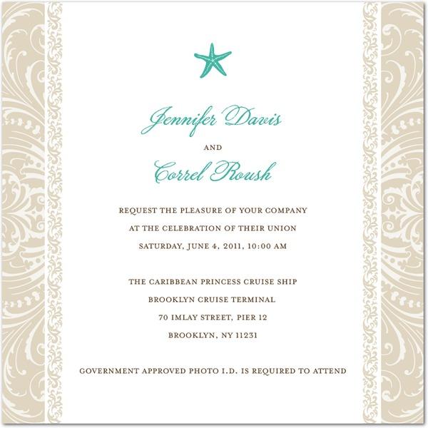Wedding Invitations And Wording Honeymoon Wedding Cruises