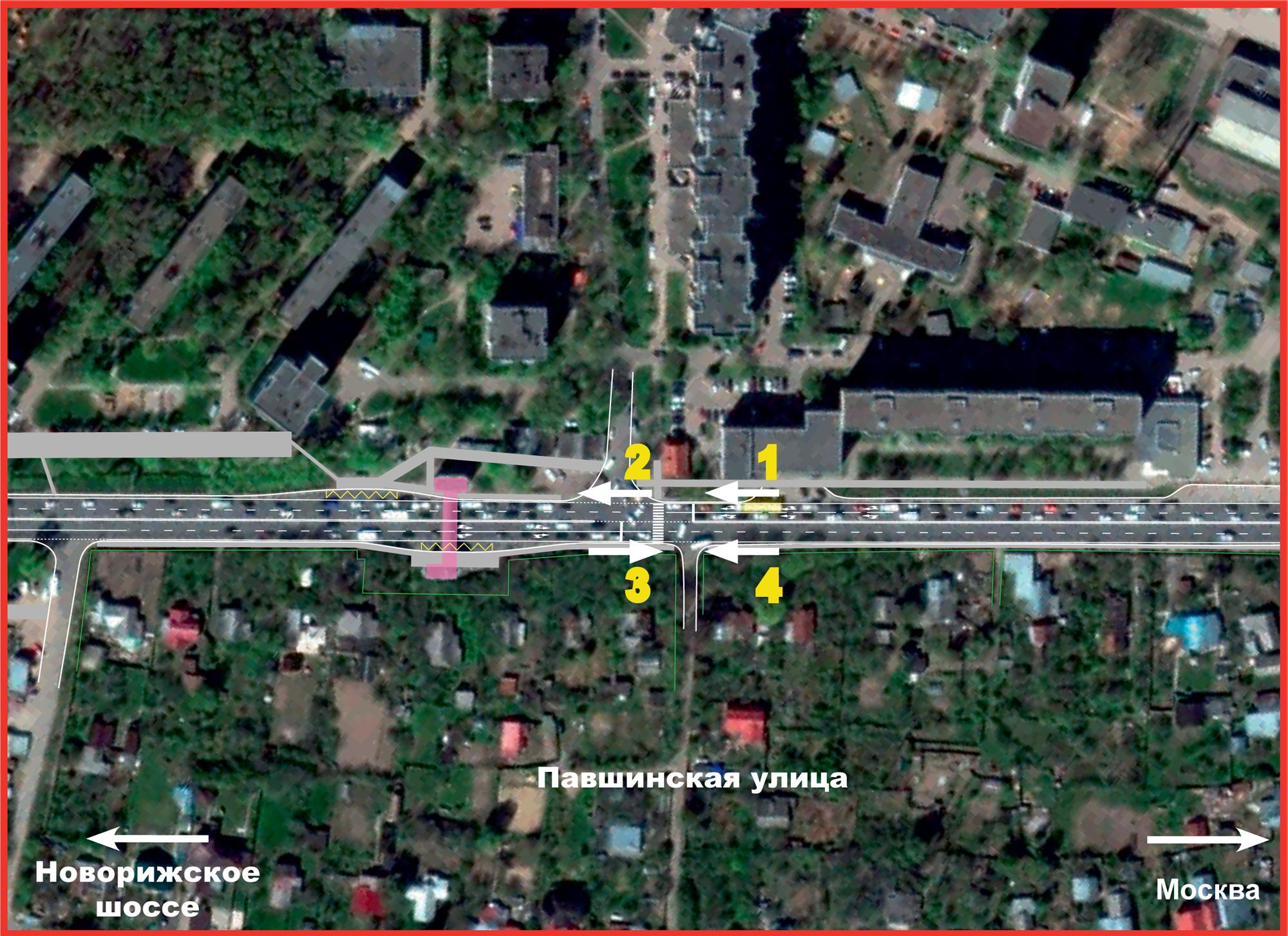 Волоколамское шоссе ильинское схема