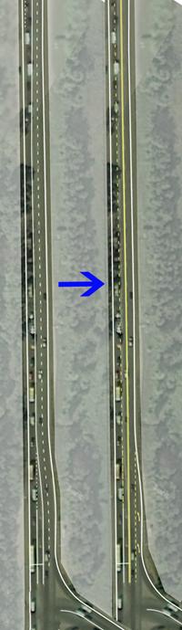 поворот с Каширского шоссе