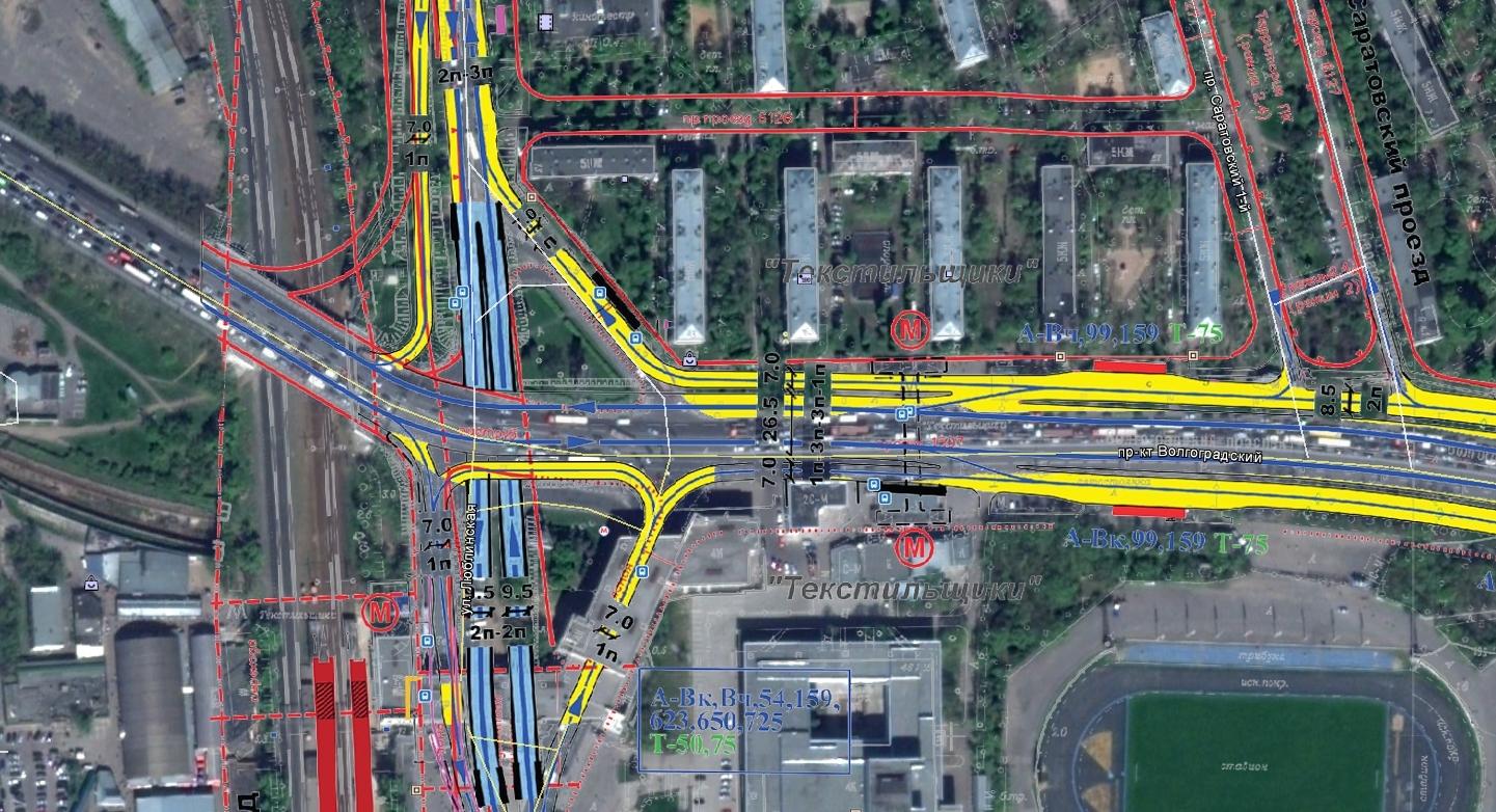 схема строительства дороги объезд волгограда