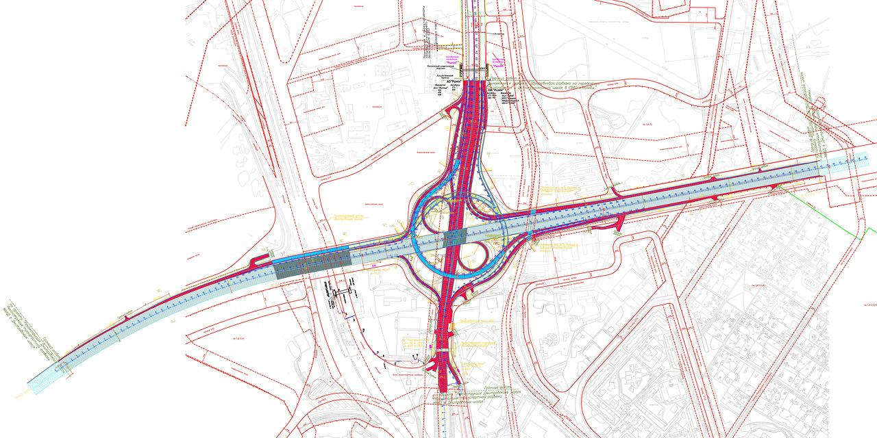 Реконструкция новорижского шоссе схема