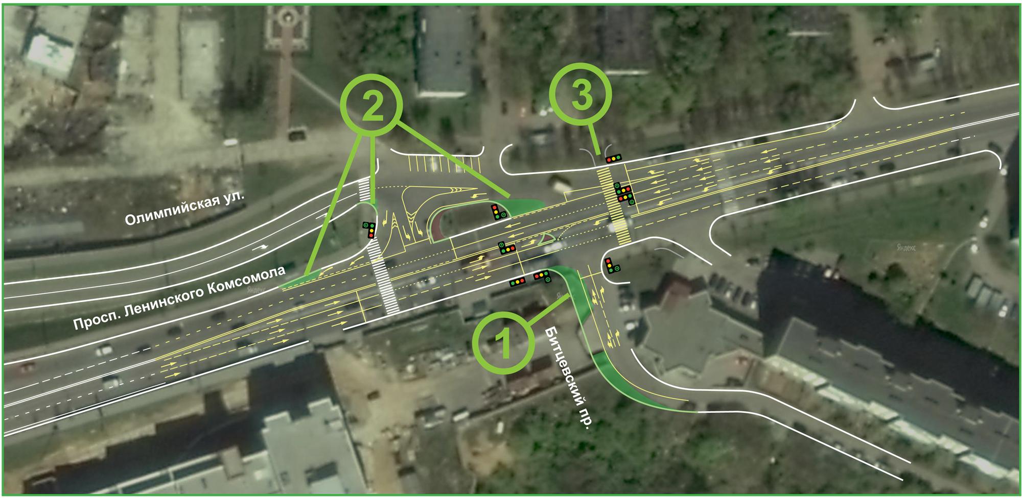 схема установки знаков на волоколамском шоссе