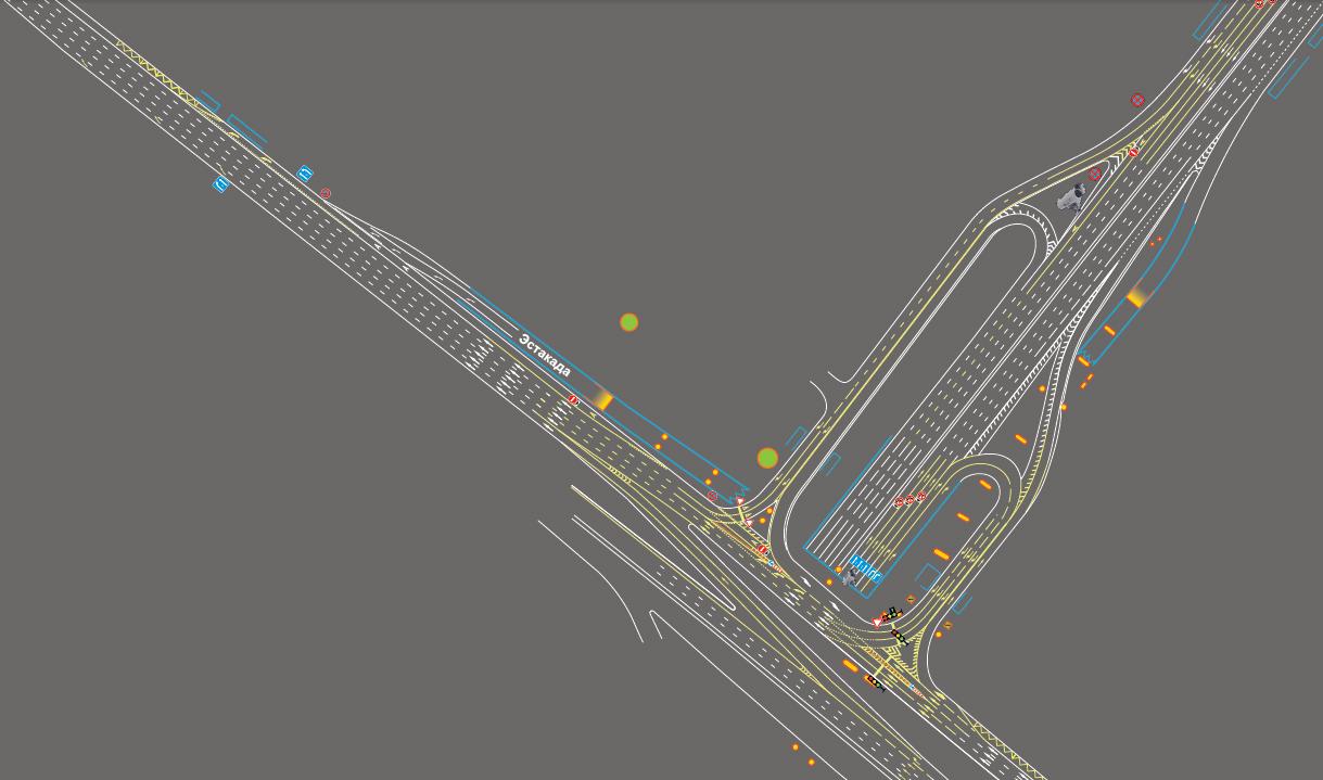 Новая схема организации дорожного движения на пересечении Третьего кольца и дублера Ленинградского проспекта.
