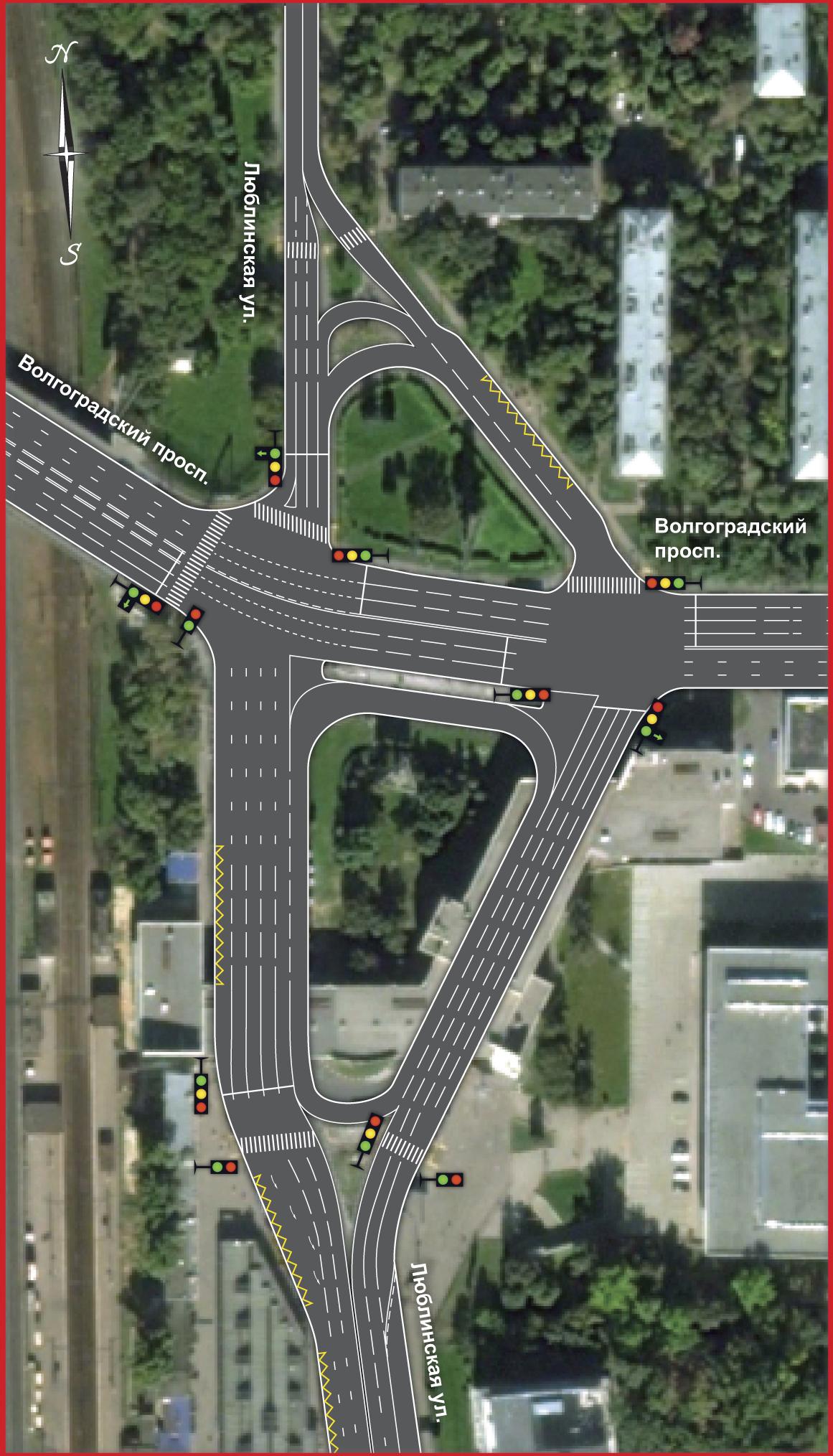 Реконструкция волгоградского проспекта схема 540