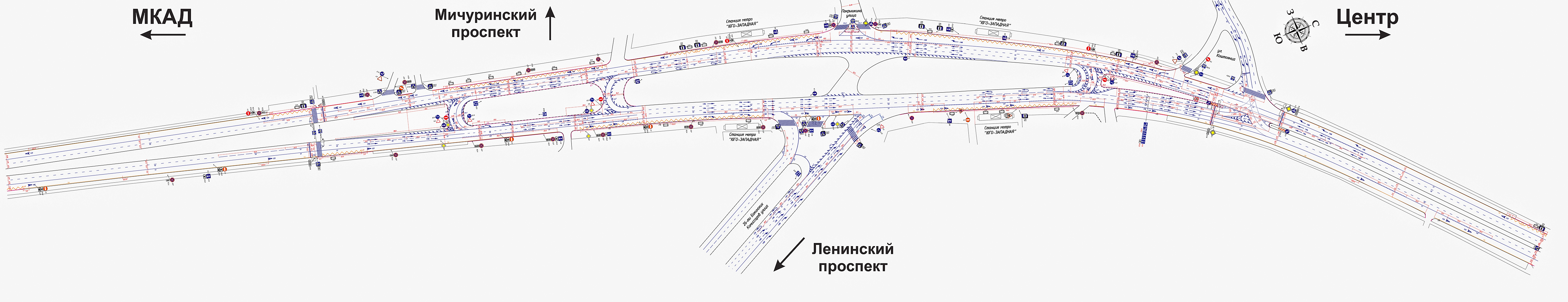 схема развязки мичуринский проспект-мкад