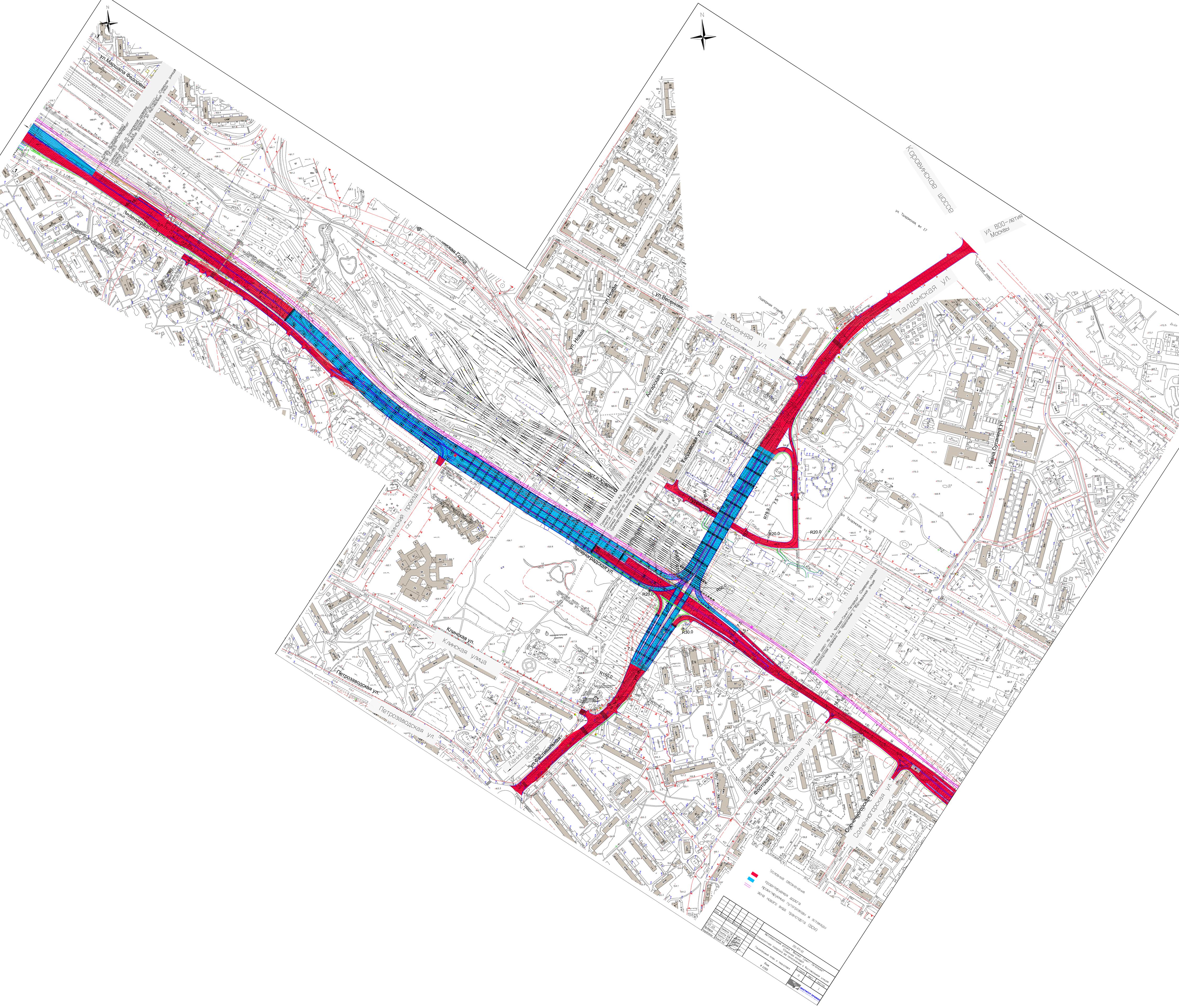 Развязка на зеленоградской улице схема