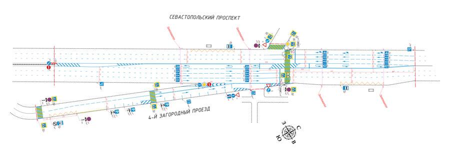 проект разворотов на Севастопольском проспекте у МЦК