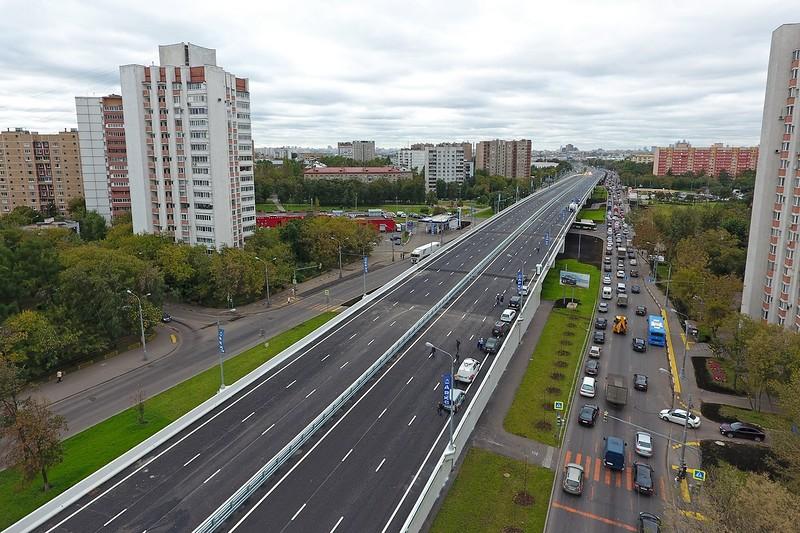 Эстакада на пересечении Волгоградского проспекта с Волжским бульваром