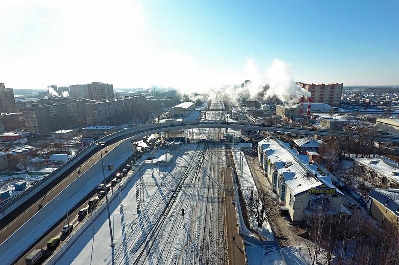 Путепровод через ж/д около платформы Щербинка