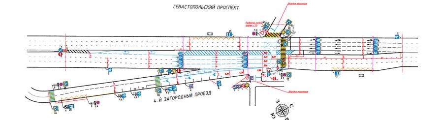 предпроект разворота на Севастопольском проспекте у МЦК
