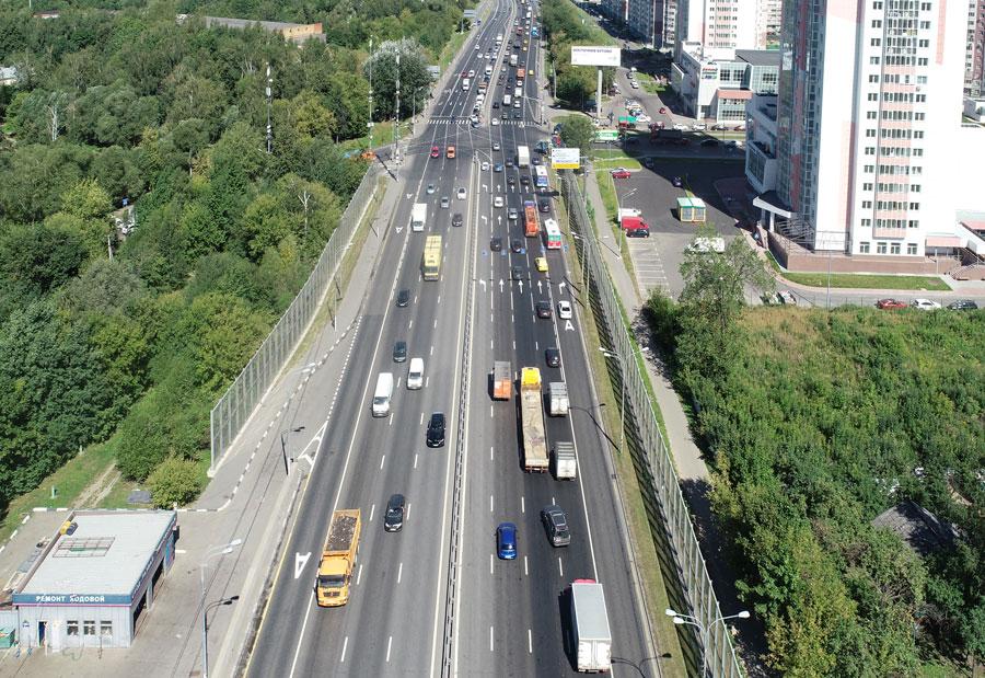 перекресток Варшавское шоссе - Расторгуевское шоссе