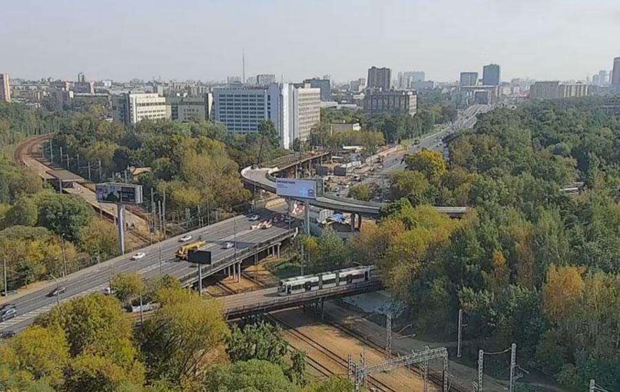 Волоколамское шоссе эстакада Академика Курчатова