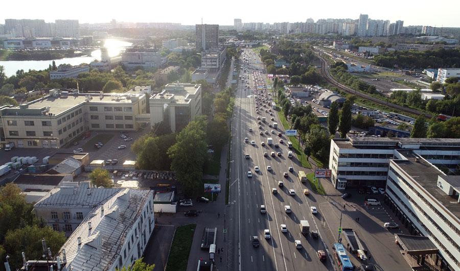 Волоколамское шоссе переразметка 2018