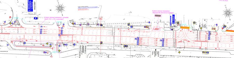 Волоколамское шоссе перекресток с Походным проездом проект