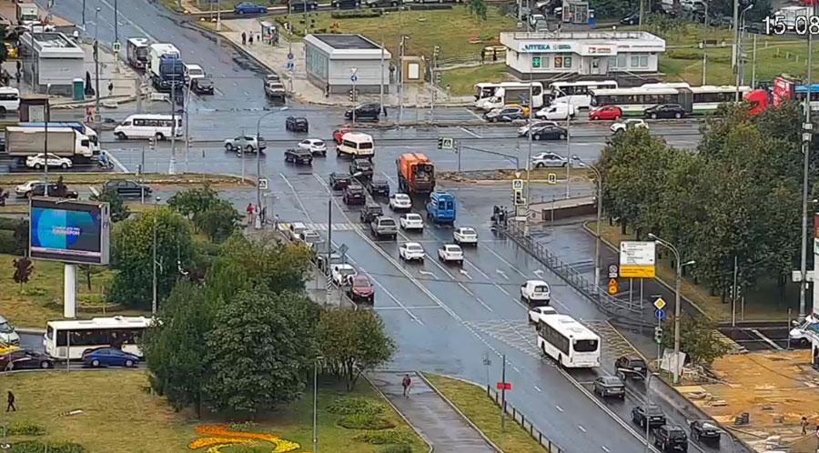 Выезд с Орехового бульвара на Каширское шоссе