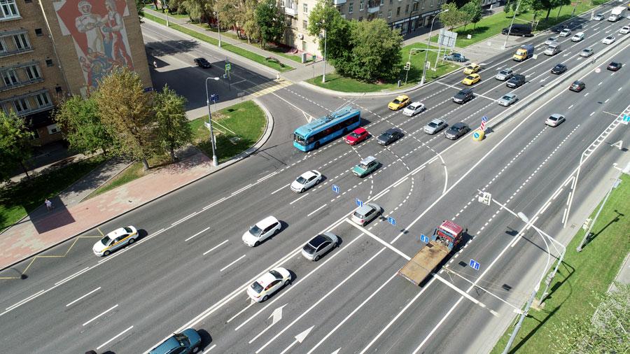 Каширское шоссе поворот на улицу Кошкина