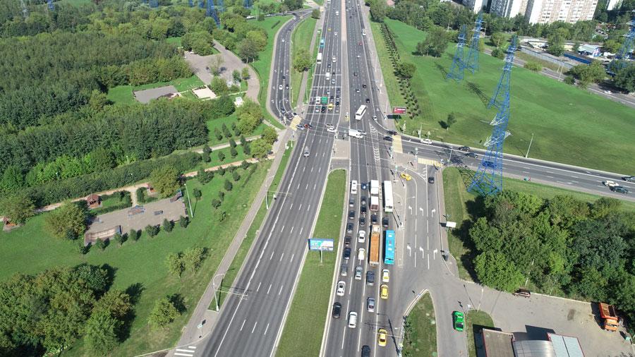 перекресток Каширское шоссе - Борисовские пруды