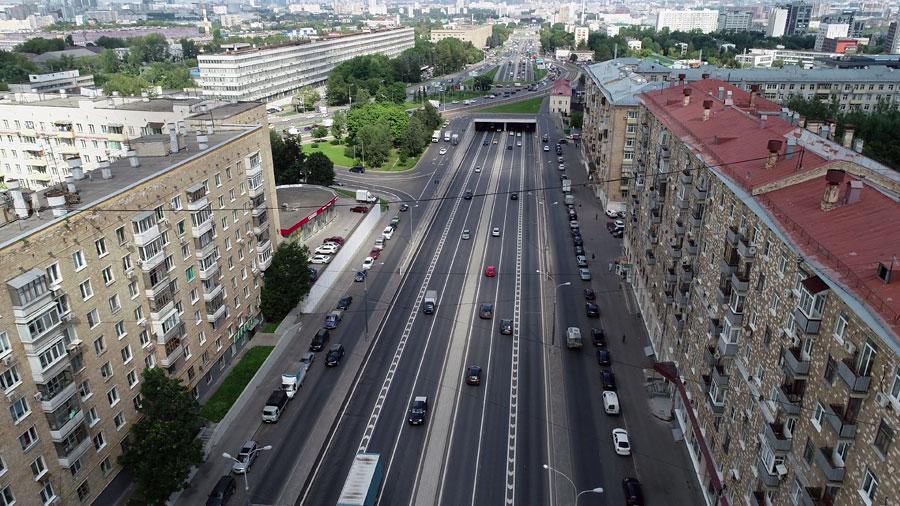 Каширское шоссе тоннель под Варшавским шоссе