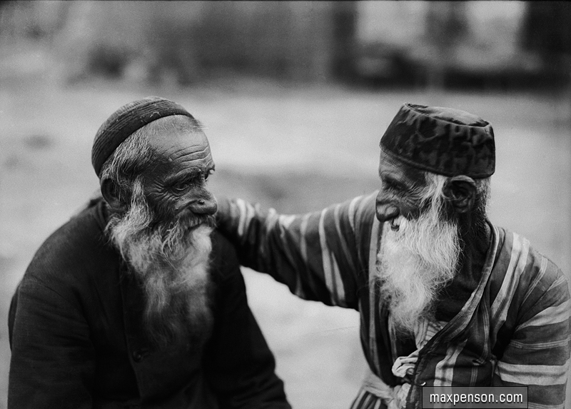 Two_old_men._Bukharan_Jews._1920th_years
