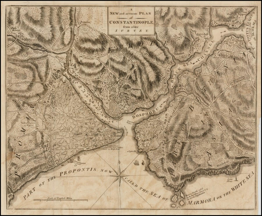 Universal Magazine,  A New and accurate Plan of Constantinople from a late Survey 1770