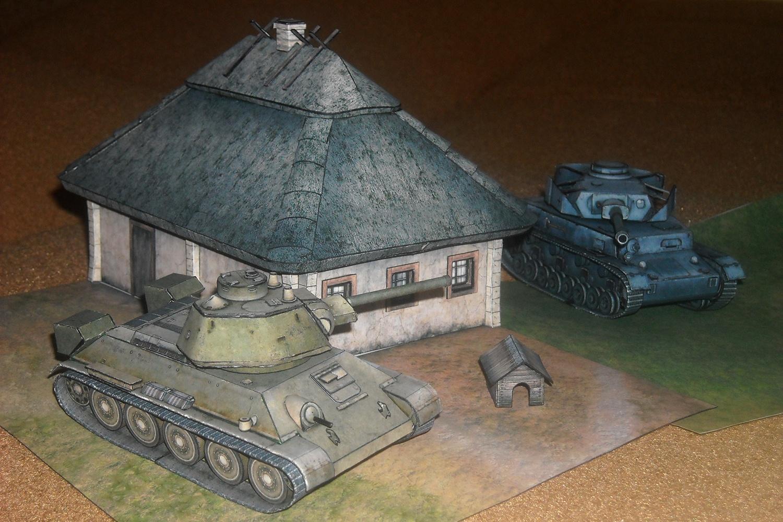 Как сделать танк т-34 из картона своими руками схема