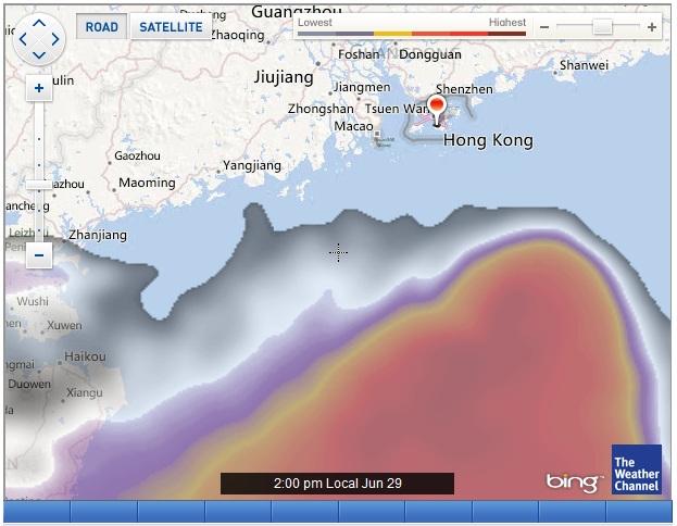 HK weather 20120629
