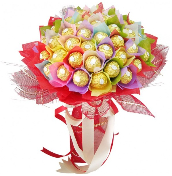 подарочные букеты из конфет