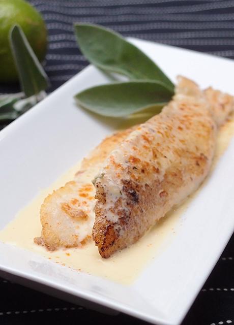 Рецепт филе пангасиуса с шалфеем