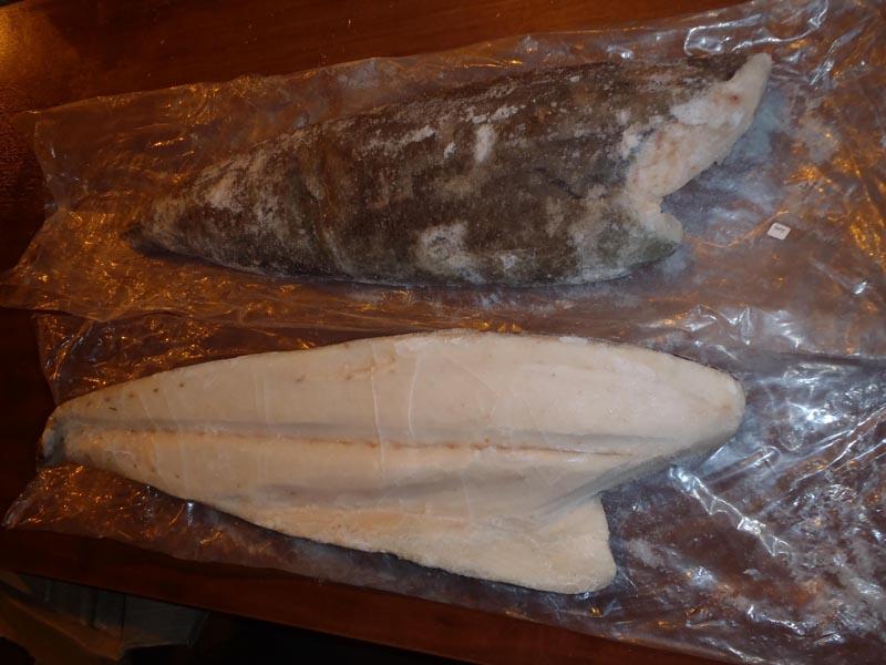свежемороженое филе масляной рыбы (лат. - Lepidocybium flavobrunneum)