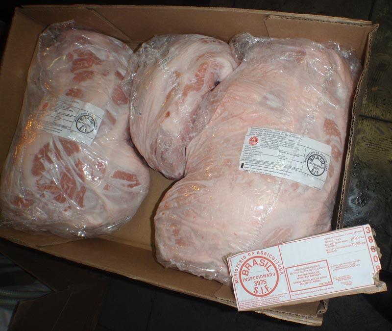Свиной окорок б/к свежемороженый производства Бразилия