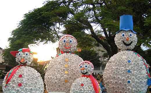 Как сделать снеговика для улицы своими руками
