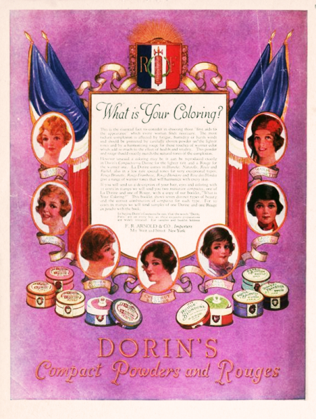 1920s powders and rouges