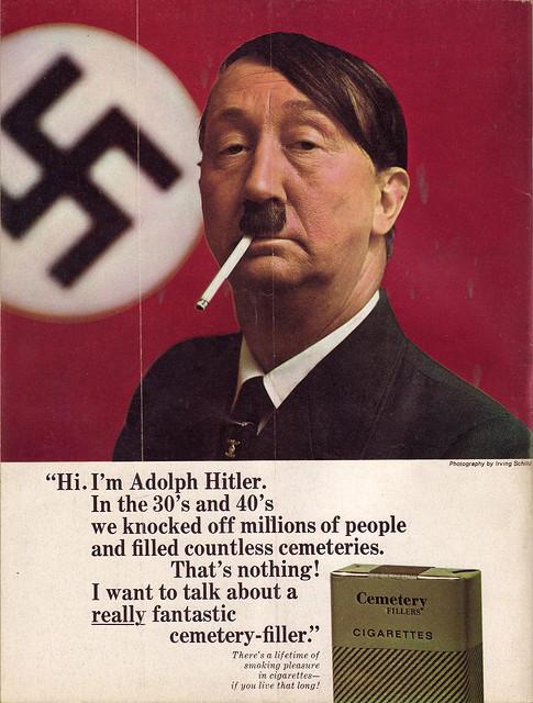 Hitler cigarette ad