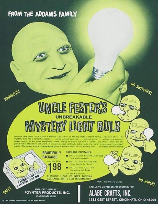 Uncle Festers lightbulb
