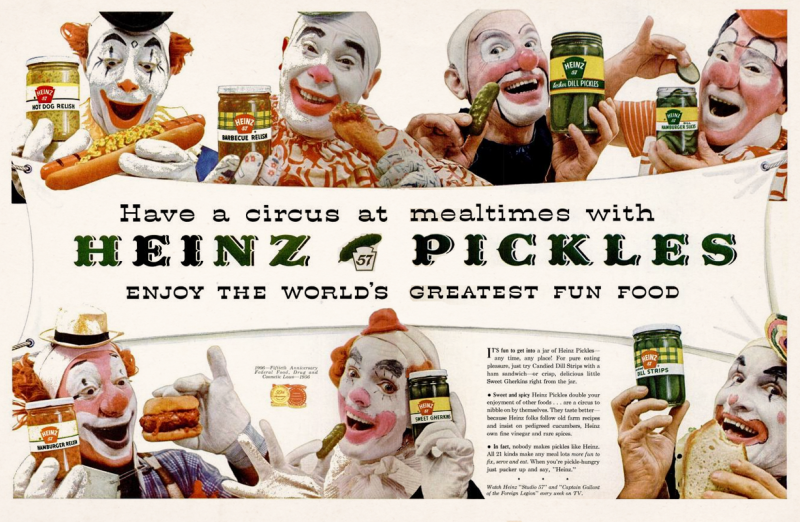 clowns pickles