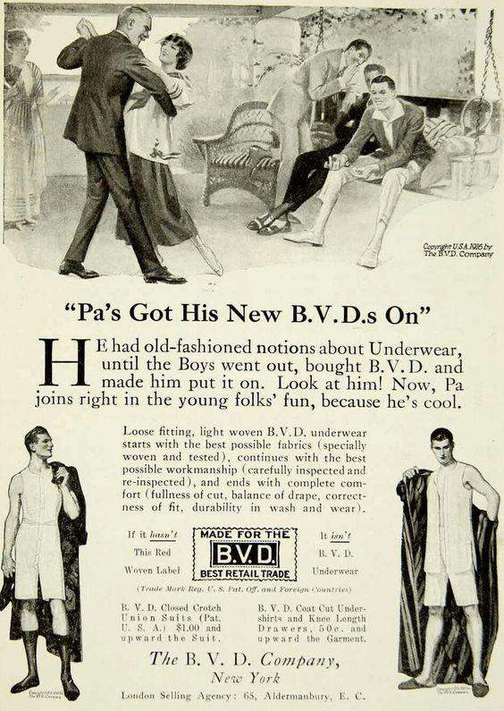 Mens underwear 1920s
