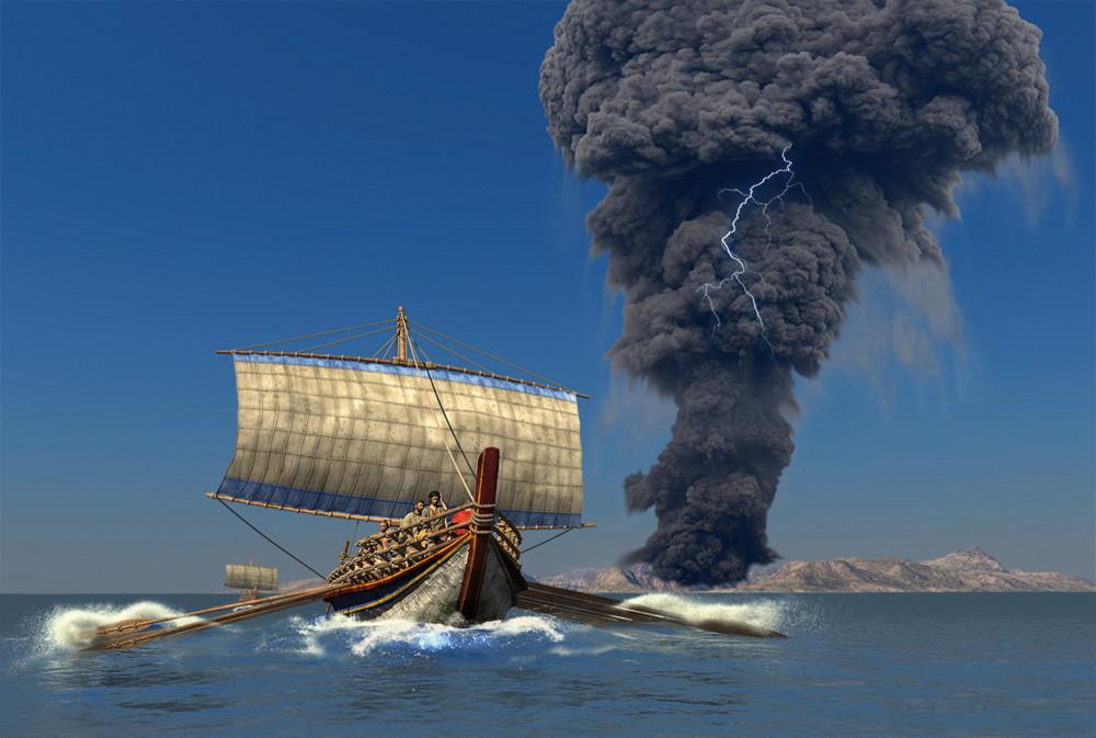 О роли cанторинской катастрофы