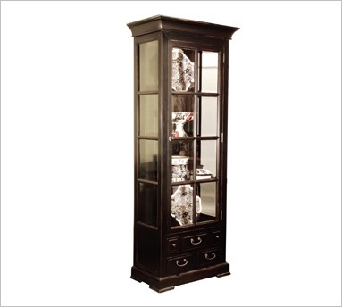 largo small naturally cabinet wood product room dining curio cabinets