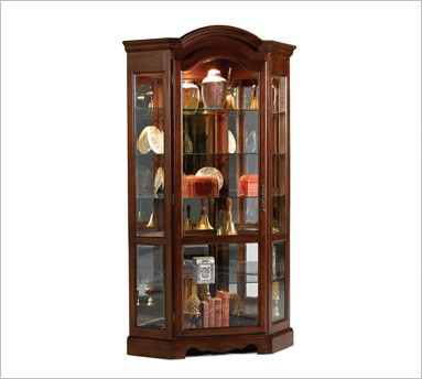 Fill Empty Spaces with Corner Cabinets - Curio Cabinets