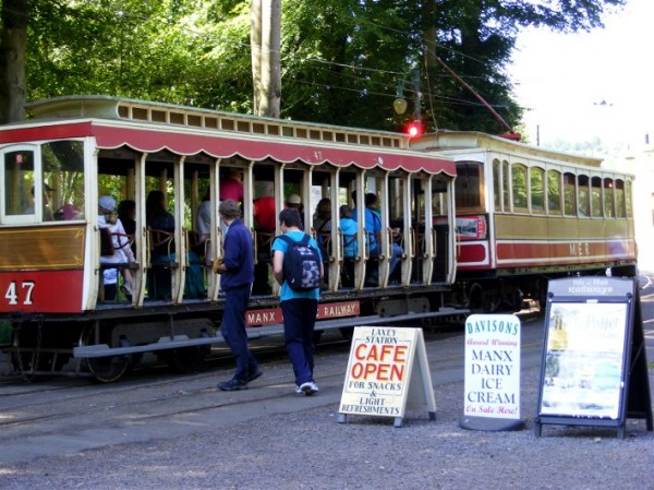 MER tram at Laxey