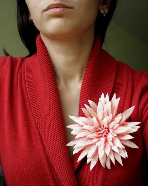 Цветок георгин из фоамирана мастер класс 55