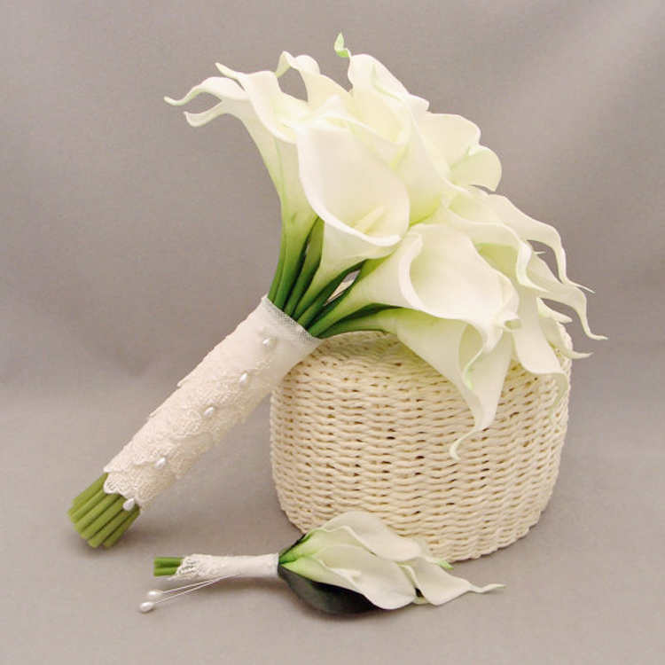 Свадебный букет с каллами своими руками из лент