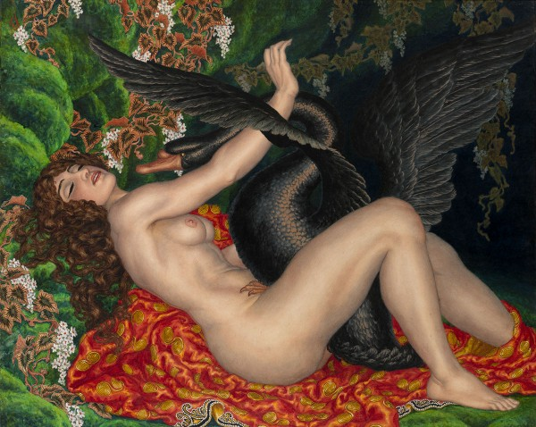 classic_Leda_Nicholas Kalmakoff - Leda and the Swan (1917)