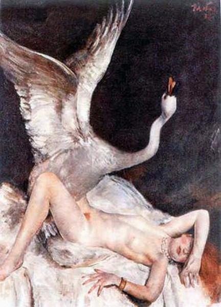 lying_Leda_Paul Matthias Padua - Leda and the Swan