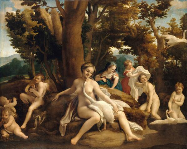 sitting_Leda_Antonio da Correggio_1531