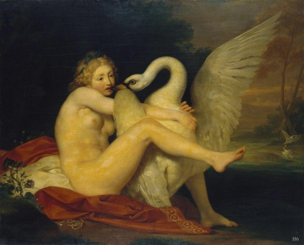sitting_Leda_Leda and the Swan. 1785. Anton Von Maron. Austrian. 1731-1808